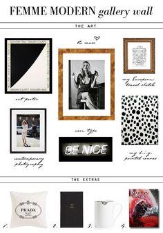 "small shop new gallery wall ""femme modern"" Kate Moss, Ellsworth Kelly, Marilyn Minter, Prada"
