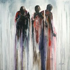 """Title: """"The Thinkers"""" Gavin Collins Paintings Size: 1,5m x 1,5m"""