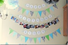 1st Birthday month by month Banner