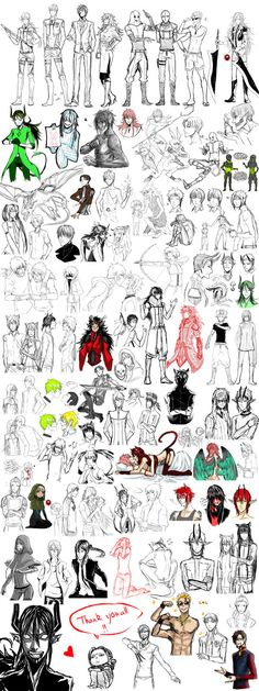 Lot of OCs .... and some fanarts,gifts and .....original characters again and again ~