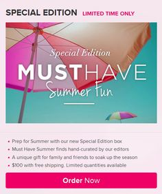 Popsugar is offering a Summer Fun Special Edition Box, check it out!