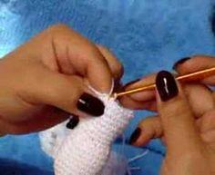 Boneco de Neve para Aplicação ou Enfeite de Crochê