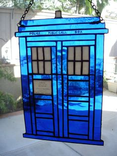 Dr Who Stained Glass Tardis submitted by Coby