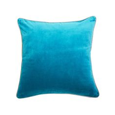 Monterey Velvet Aqua by Canvas + Sasson Interiors Online, Velvet Cushions, Aqua, Throw Pillows, Canvas, Tela, Water, Toss Pillows, Decorative Pillows
