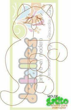 Adorno gatito Cat Crafts, Animal Crafts, Decor Crafts, Wood Crafts, Diy And Crafts, Crafts For Kids, Paper Crafts, Beautiful Wallpaper For Phone, Batman Coloring Pages