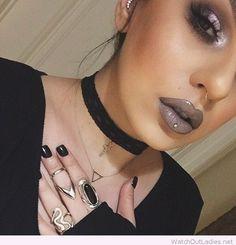Dark fall makeup inspiration