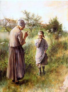 Forbidden Fruit-Carl Larsson (1853 – 1919, Swedish)
