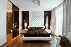White/Brown Bedroom