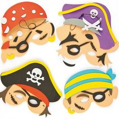 Pirate Foam Mask Craft Kits