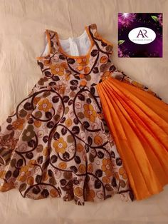 Best 11 Pavada designs by Angalakruthi boutique Bangalore – SkillOfKing. Cotton Frocks For Kids, Frocks For Girls, Frock Patterns, Baby Girl Dress Patterns, Girls Frock Design, Baby Dress Design, Kids Dress Wear, Kids Gown, Baby Frocks Designs