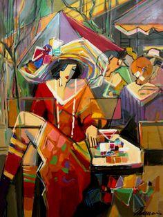 Isaac Maimon Paintings | Maimon Pal Gallery Contemporary Fine Art of Israeli Artist in Santa ...