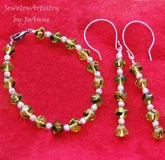 Bracelet  Earring Set  Gorgeous Green and by JewelryArtistry, $35.00