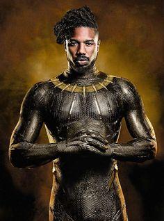 Black Panther Premieres Michael B Jordon