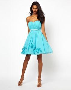 Image 4 ofLittle Mistress Embellished Floral Applique Prom Dress