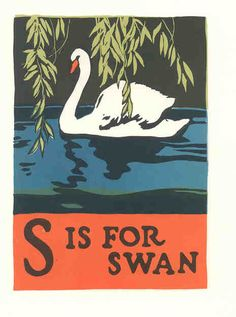 "S is for Swan - From ""Book of ABC's"" by C. B. Falls (1923, United States)"