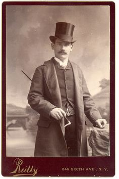 """When I look at this dapper Victorian gent, one of Liesl's classic Sound of Music lines wafts into my mind to accompany this image, """"Bachelor dandies, drinkers of brandies"""""""