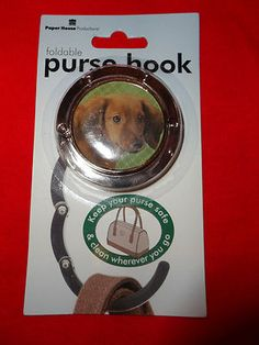 Dachshund foldable purse hook keeps purse clean (100% benefits Doxie Rescue)