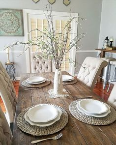 Awesome Modern Farmhouse Dining Room Design Ideas - Page 4 of 49 - Aidah Decor Farmhouse Dining Room Table, Modern Dining Room Tables, Dining Room Design, Dining Rooms, Farmhouse Furniture, Rustic Furniture, Dining Room Centerpiece, Dining Room Table Centerpieces, Centerpiece Ideas