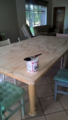 Brand new Dining room table made by my husband