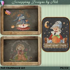 Happy Fall from these scarecrow cuties!!  Visit my store for more digital creations at every day low prices.