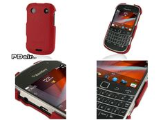 PDair Leather Cover for BlackBerry Bold 9900/9930 (Red/Floater Pattern)