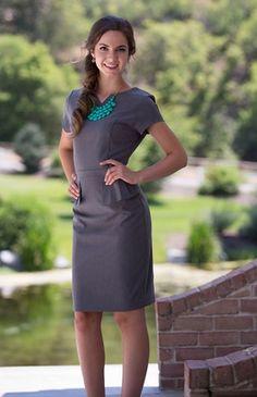 peplum gray dress