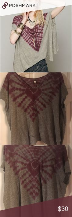 Free People Tie Dye Shirt very comfortable and flowy free people shirt. lightly worn and in perfect condition. size is a medium but fits loosely. make an offer or ask questions below!! Free People Tops Tees - Short Sleeve