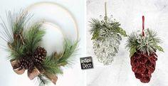 Decorations Christmas with pine cones! Holiday Crafts, Christmas Diy, Christmas Wreaths, Christmas Decorations, Holiday Decor, Deco Table Noel, Arts And Crafts, Diy Crafts, Decoration Originale