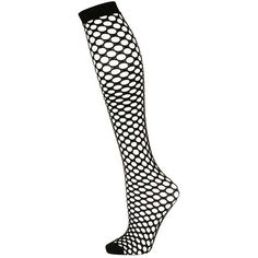 TopShop Fishnet Knee High Socks ($7.34) ❤ liked on Polyvore featuring intimates, hosiery, socks, knee-high socks, knee hi socks, fishnet socks, topshop socks and fishnet hosiery