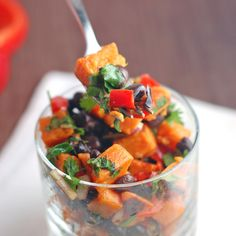 Roasted Sweet Potato Salad - Pinch of Yum
