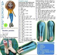 Hello again, good day to everyone New page 2 of my description . Actually not really . Crochet Dolls Free Patterns, Crochet Doll Pattern, Crochet Bunny, Cute Crochet, Amigurumi Patterns, Doll Patterns, Crochet Toys, Knit Crochet, Barbie