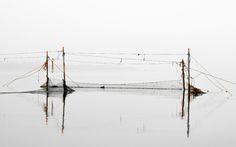 Visnetten op het Veerse Meer