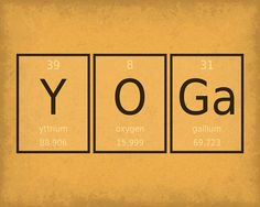 periodic table word poster yoga wall art print by getyournerdon