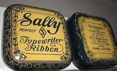 vintage typewriter ribbon tins - Google Search
