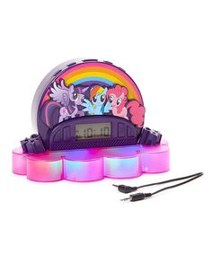 Love this My Little Pony Projection Alarm Clock Radio by My Little Pony on #zulily! #zulilyfinds