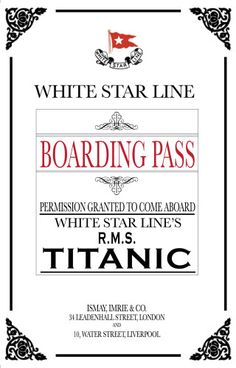 For the Titanic party, all guests were given a boarding pass with their invitation.