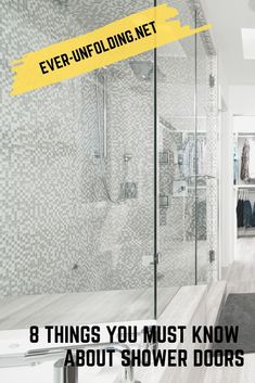 8 Things You Must Know About shower doors Vigo Shower Doors, Frameless Shower Doors, Dreamline Shower, Getting Wet, Frosted Glass, Plumbing, Etched Glass, Frosted Window, Bathroom Fixtures