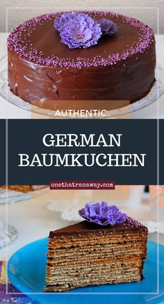 Authentic German Baumkuchen - onethatranaway You are in the right place about easy german recipes Here we offer you the most beautiful pictures about the german recipes German Desserts, Just Desserts, Baumkuchen Recipe, Easy German Recipes, German Cakes Recipes, Cake Recipes, Dessert Recipes, Dinner Recipes, German Baking