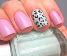 Pink #nails nail art
