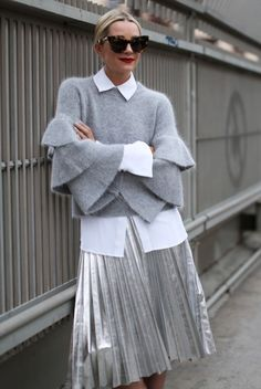 collared-shirt-with-avant-garde-top-and-metallic-skirt