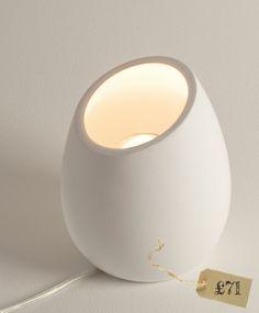 Limina white plaster up-lighting floor lamp www.theolivetreeshop.co.uk
