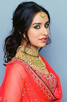 Bollywood actress Shradha kapoor in Anita Dongre bridal lengha