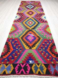 Turkish Kilim Rug Runner on Wanelo