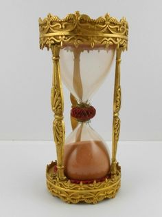 French Antique Gilt-Bronze Hourglass