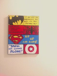 Custom Order 18 x 24 Canvas Wall Art: Kids Superhero Quotes, Comic Book Style Personalized & Ready to Hang.