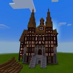 minecraft hall town medieval germanic blueprints houses imgur