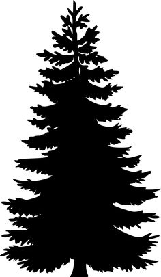 Tree silhouettes by @Chrisdesign, Silhouette of a conifer., on @openclipart