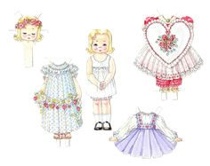 The Paper Collector: artist paper doll