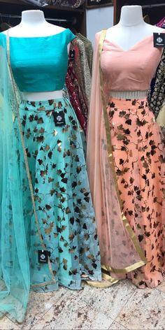 @raashik99 Choli Designs, Lehenga Designs, Blouse Designs, Indian Designer Sarees, Indian Designer Outfits, Designer Dresses, Dress Indian Style, Indian Dresses, Simple Lehenga
