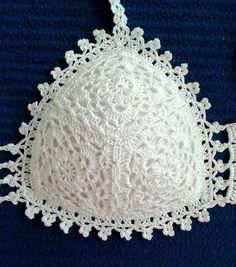 D & # iArt Crochet Art: Crocheted Bikini Crochet Lingerie, Crochet Bra, Crochet Bikini Pattern, Crochet Bikini Top, Crochet Blouse, Crochet Motif, Crochet Clothes, Diy Clothes, Crochet Patterns